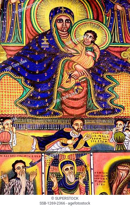 Paintings, Church of St. Mary of Zion, Axum, Ethiopia