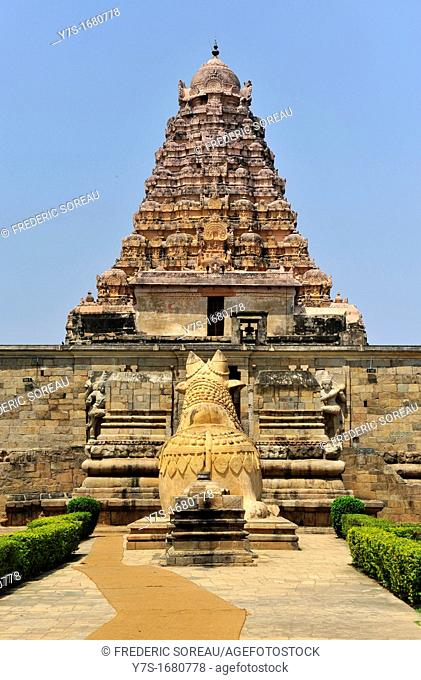 The main entrance to the Shiva Temple at Gangaikondacholapuram temple,Tamil Nadu,South India,India,Asia