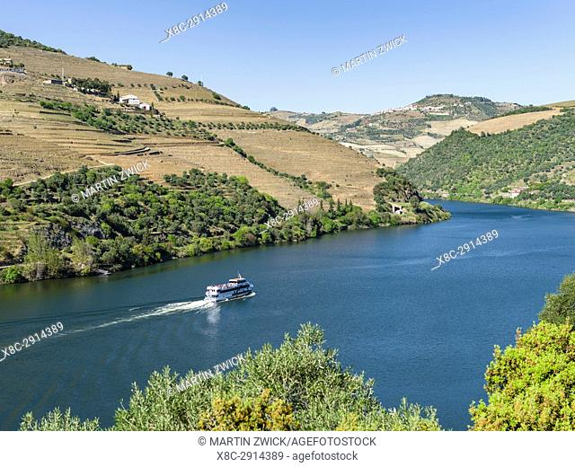 River Douro near Pinhao. The valley of river Douro. It is the wine growing area Alto Douro and listed as UNESCO World heritage