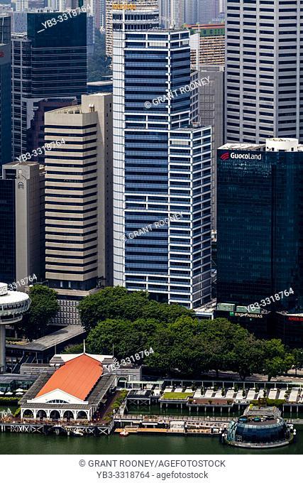 Marina Bay and The Singapore Skyline, Singapore, South East Asia