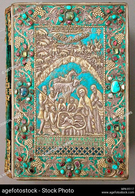 Gospel with Silver Cover. Object Name: Illustrated manuscript; Date: 13th and 17th century; Geography: Made in present-day Turkey