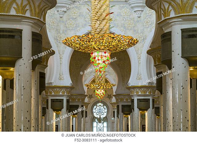 Sheikh Zayed Grand Mosque, Abu Dhabi City, Emirate of Abu Dhabi, Persian Gulf, United Arab Emirates, UAE, The Middle East