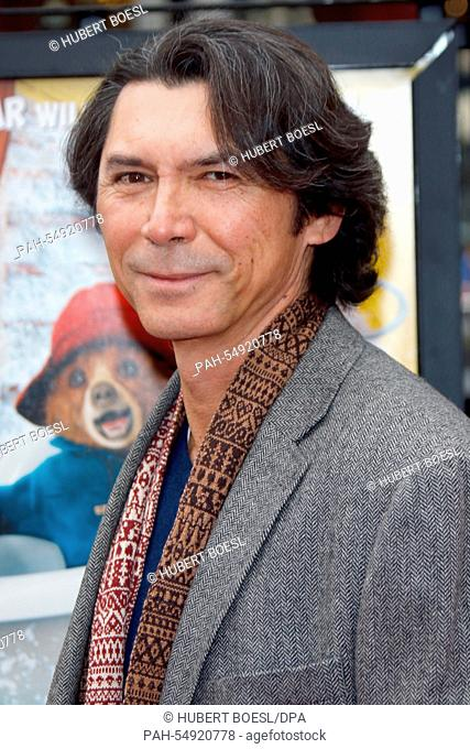 Actor Lou Diamond Philips poses at the premiere of Paddington in Los Angeles, USA, on 10 January 2015. Photo: Hubert Boesl /dpa - NO WIRE SERVICE - | usage...