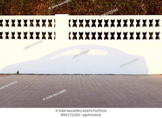 Shadow of a car