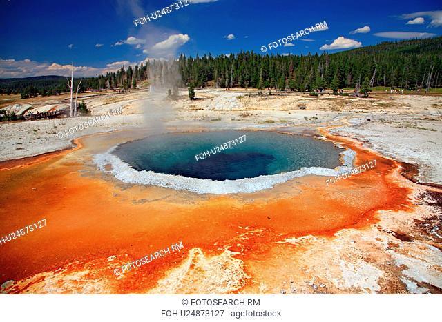 sun crested pool old faithful area upper geyser