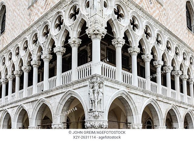 Doge's Palace detail, Venice, Italy