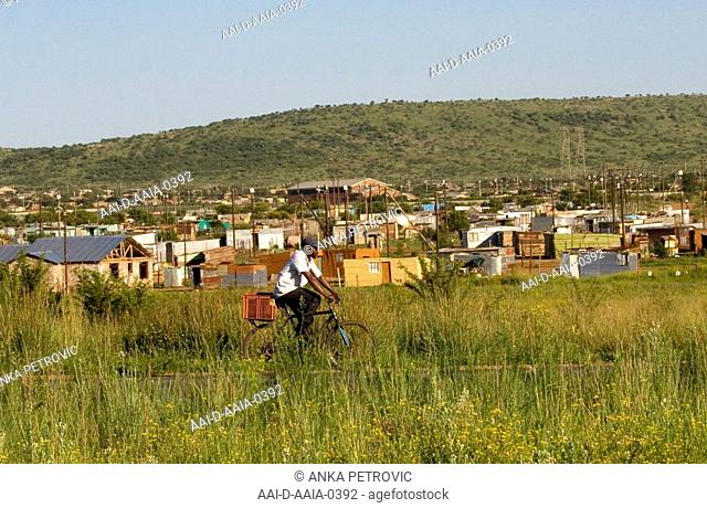Township near Carltonville, Free State, South Africa