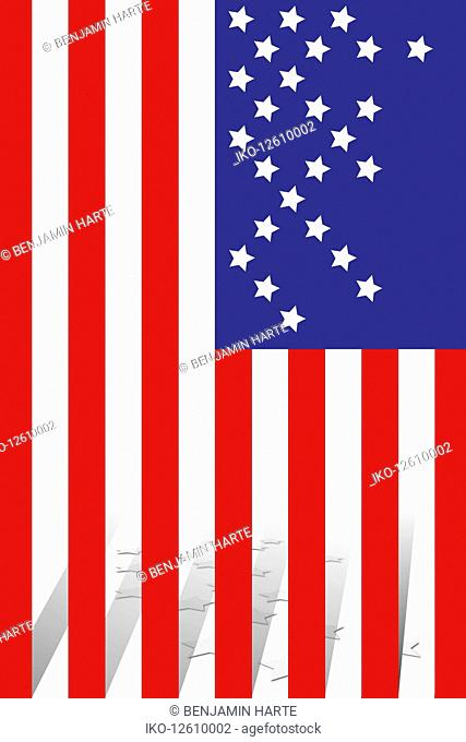 Stars missing from American flag