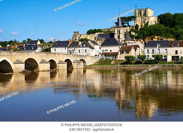 France, Loir-et-Cher, Montrichard, castle and fortress of the 11h century