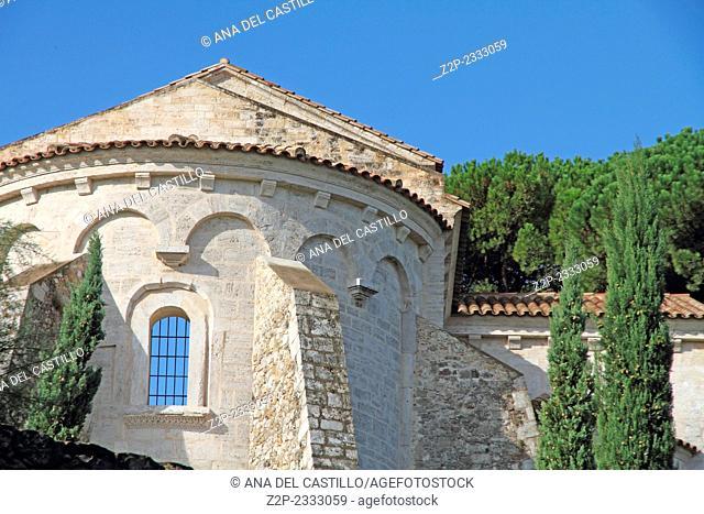 Church in Besalu village Gerona Catalonia Spain