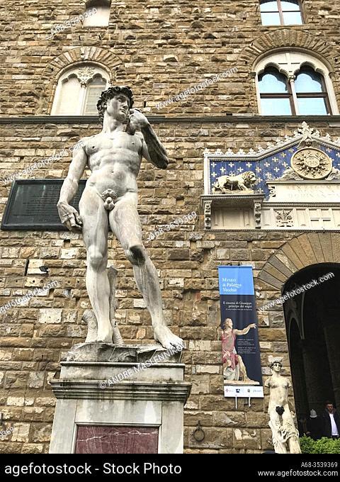 Replica Of Statue of David, Piazza della Signoria, Florence, Italy. Photo: André Maslennikov