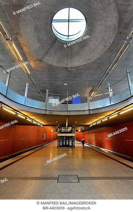 Metro Station, Messestadt-West, Munich, Bavaria, Germany