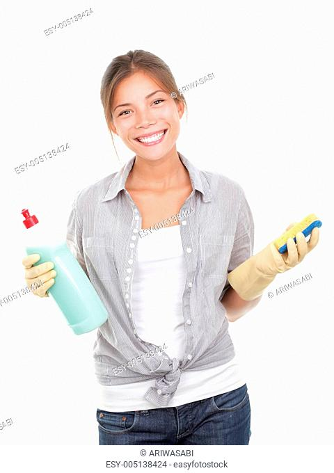 Cleaning house woman