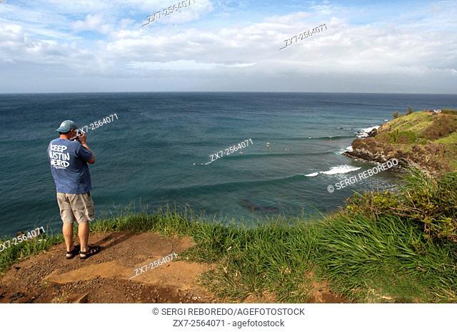 Taken pictures to the Landscape between Kahakuloa y Honokohau. Maui. Hawaii. Kahakuloa head and the smaller Pu'u Kahlui-anapa as seen from the west Maui loop...