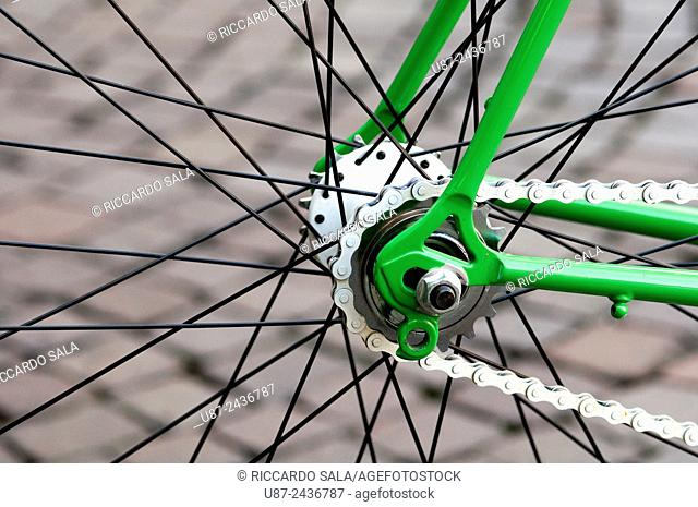 Close up of Chain and Spokes. . . .