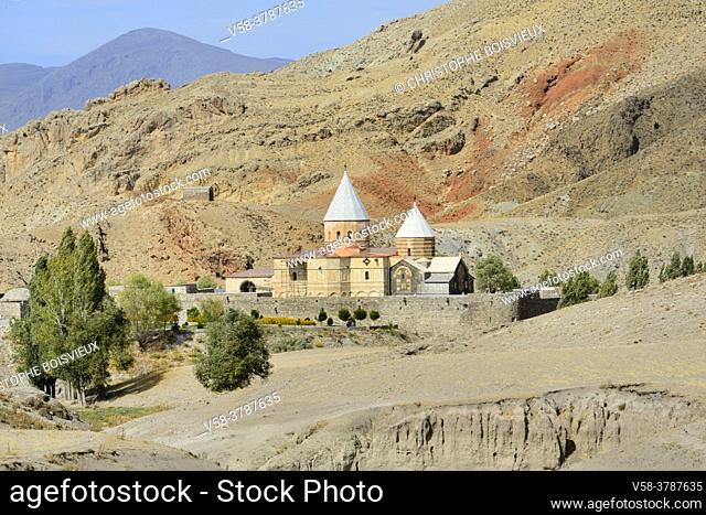 """Iran, West Azerbaijan province, Unesco World Heritage Site, Saint Thaddeus monastery (also known as Qara Kilise, the """"""""Black Church"""""""")"""