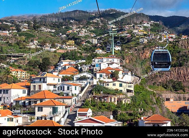 funicular, city view, Funchal, Madeira, Portugal, Europe, Seilbahn, Stadtansicht, Funchal, Madeira, Portugal, Europa