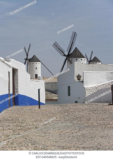 Don Quixote windmills in Campo de Criptana Ciudad Real