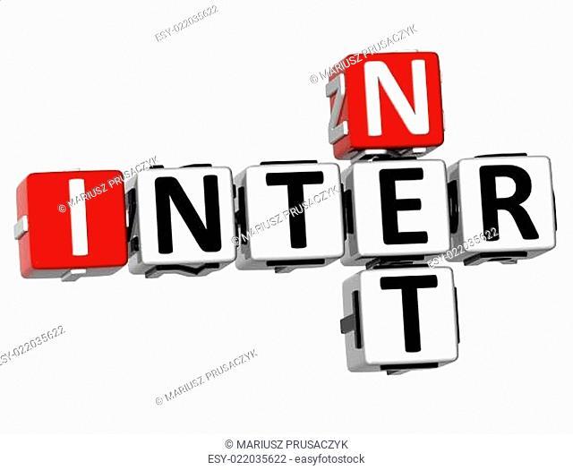 3D Inter Net Crossword