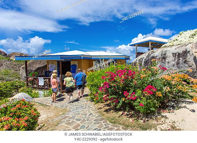 Top of the Baths at The Baths on the Caribbean Island of Virgin Gorda in the British Virgin Islands