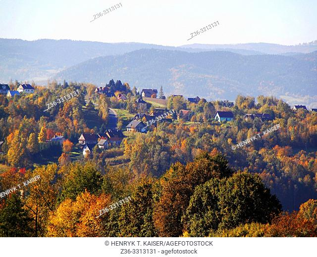 Lesser Poland near Swiatniki and Mogilany at autumn