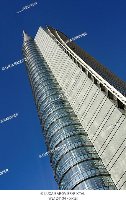 Porta Nuova Garibaldi Tower designed by Cesar Pelli, Gae Aulenti square, Milan - Italy
