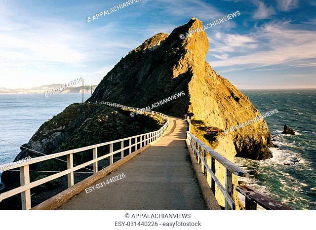 Trail at Point Bonita, in Golden Gate National Recreation Area, in San Francisco, California