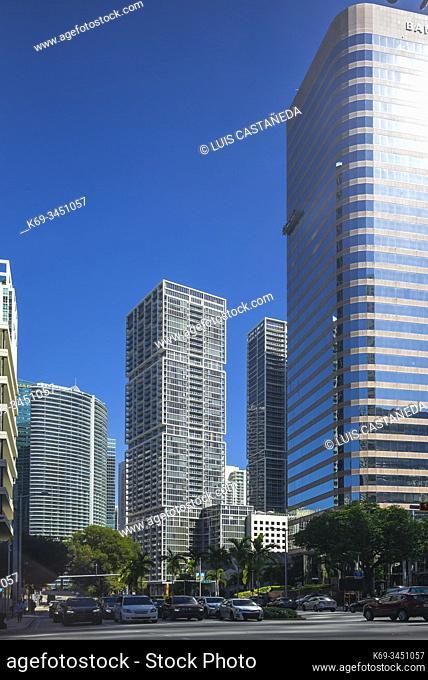 Brickell Avenue. Miami. Florida. USA