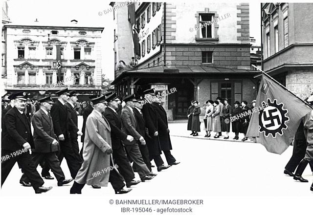 Parade on May 1 st 1937 Rosenheim Upper Bavaria Germany