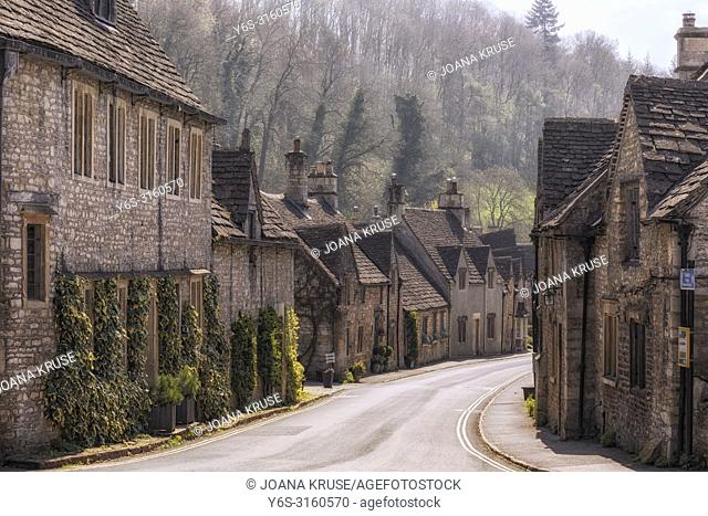 Castle Combe, Wiltshire, Cotswolds, UK, Europe