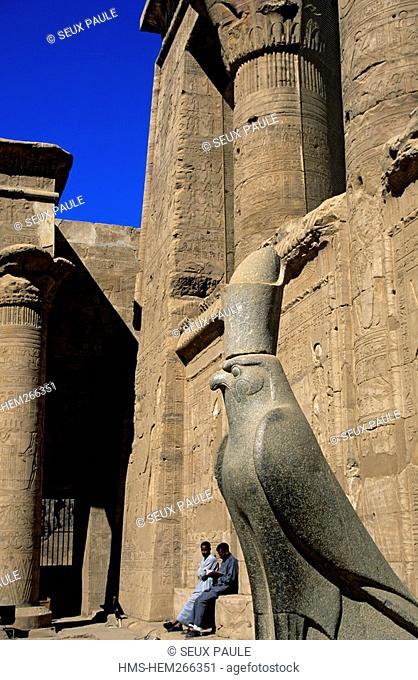 Egypt, Upper Egypt, Nile Valley, Edfu, temple dedicated to Horus God