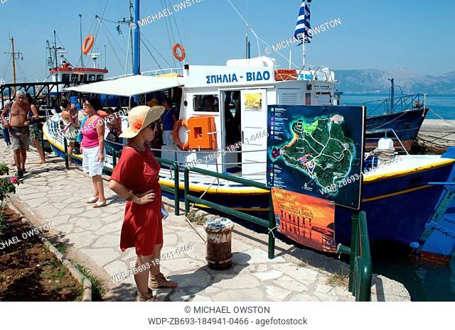 tourist cruises Old Port Corfu Town Corfu Greece