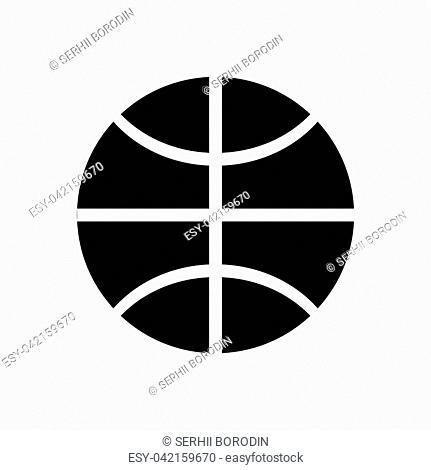 Basketball ball it is black color icon