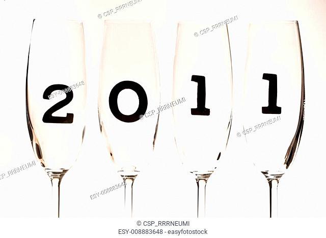 Champagne glasses 2011 V1