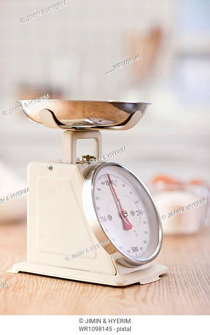 a food scale on a table