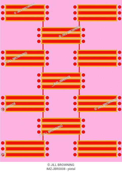 A retro pink and red tiled pattern