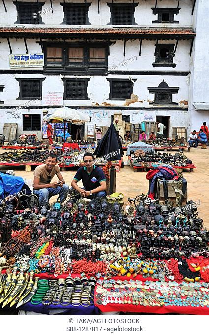 Basantapur Dabali Square at Durbar Square, there are full of souvenir open air shops