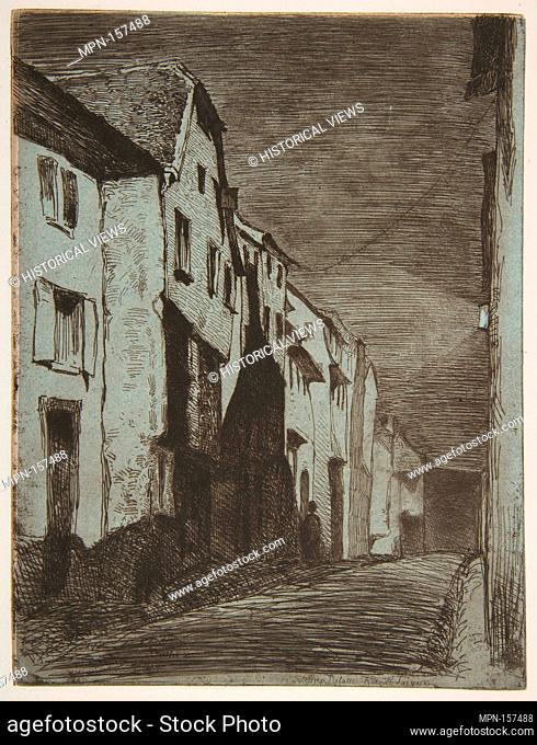 Street at Saverne. Series/Portfolio: French Set (Douze eau-fortes d'apres Nature 1858); Artist: James McNeill Whistler (American, Lowell