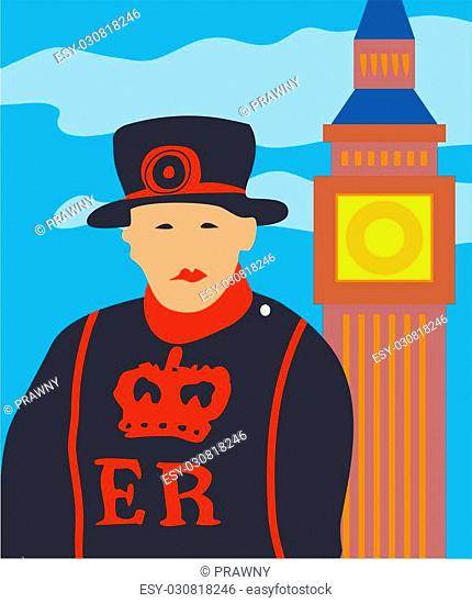 London beefeater and big ben