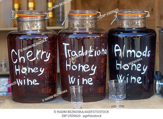 Jars with ingredients , Honey Wine, Czech Republic, Europe