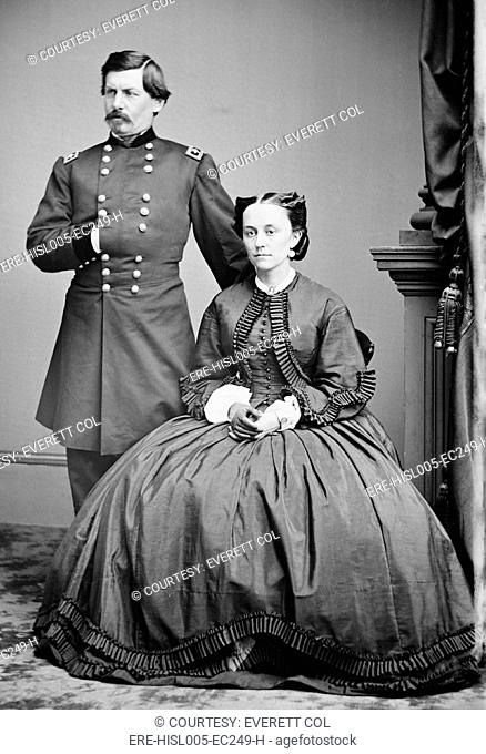George McClellan and his wife, Ellen Mary Marcy in 1862. McClellan's correspondence with his wife reveals his grandiosity and his rationalizations for not...