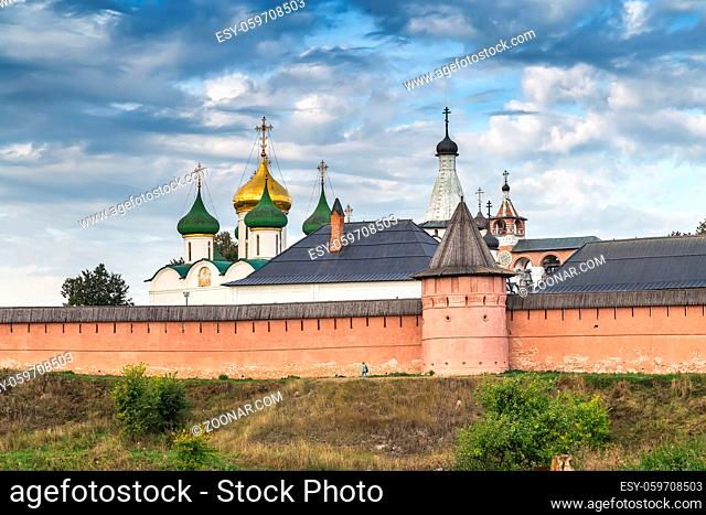 View of Saviour Monastery of St. Euthymius in Suzdal, Russia, founded in 1352