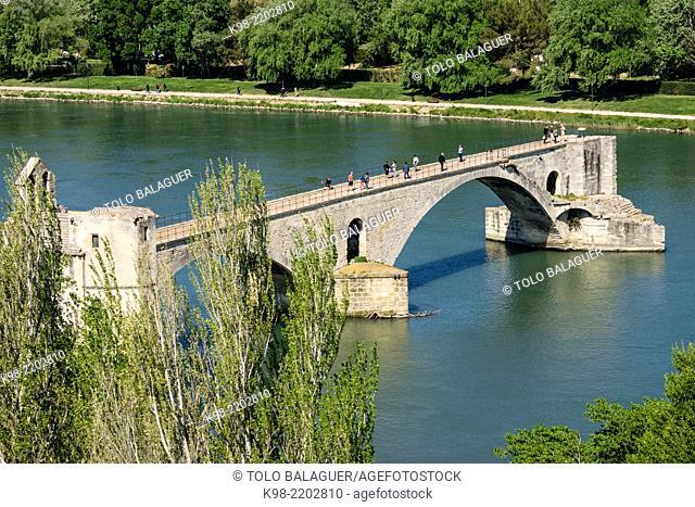 Pont Saint-Bénézet (Pont d'Avignon), Avignon, France