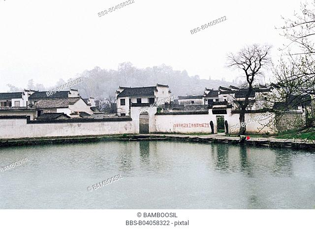 Ancient residences in Hongcun Village, Yixian County, Anhui Province, People's Republic of China