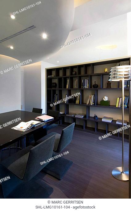Small table in modern home study
