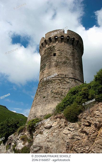 Wachturm, Cap Corse, Korsika, Frankreich / Tour de Losse, genuesischer Turm, Ostkueste