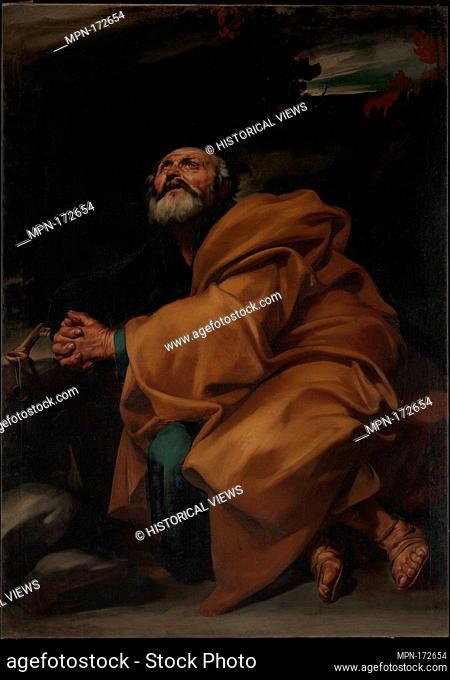 The Tears of Saint Peter. Artist: Jusepe de Ribera (called Lo Spagnoletto) (Spanish, Jótiva 1591-1652 Naples); Date: ca. 1612-13; Medium: Oil on canvas;...
