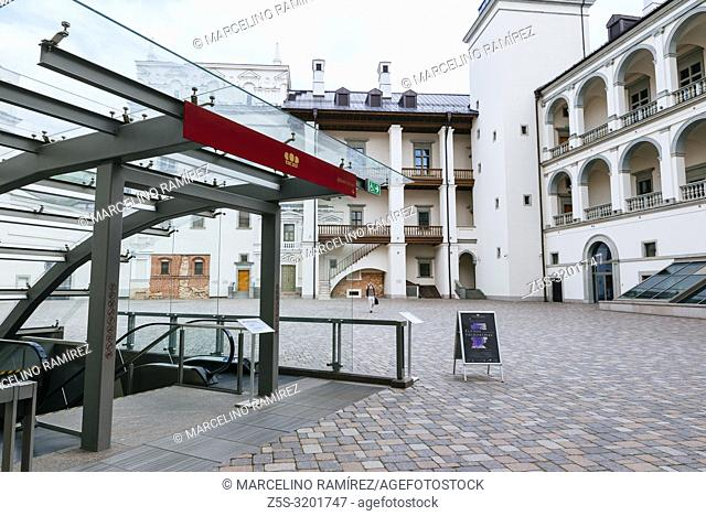 Courtyard. Palace of the Grand Dukes of Lithuania, located in the lower castle of Vilnius. Work on a new palace started in 2002 on the site of the original...