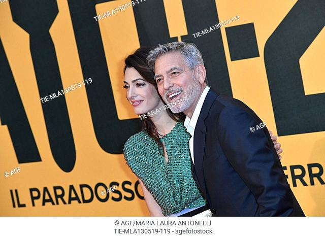 George Clooney with Amal Clooney during 'Catch-22' TV show photocall, Rome, Italy - 13 May 2019