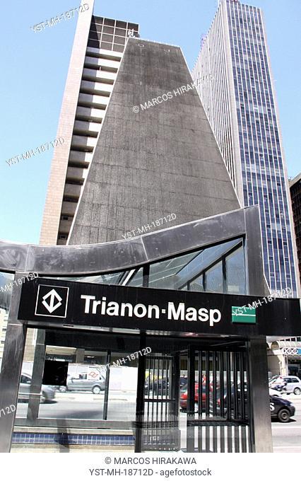 Station of the Subway Trianon-Masp, Paulista Avenue, São Paulo, Brazil